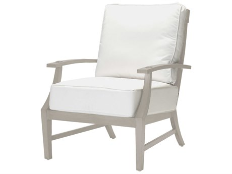 Summer Classics Croquet Aluminum Oyster Lounge Chair with Cushion
