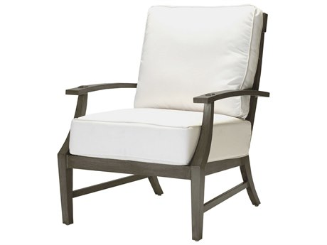 Summer Classics Croquet Aluminum Slate Grey Lounge Chair with Cushion