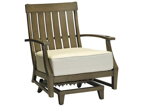 Summer Classics Croquet Aluminum Spring Lounge Chair with Cushion
