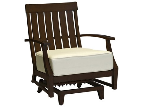 Summer Classics Croquet Aluminum Mahogany Spring Lounge Chair with Cushion