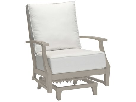 Summer Classics Croquet Aluminum Oyster Spring Lounge Chair with Cushion