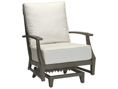 Summer Classics Croquet Aluminum Slate Grey Spring Lounge Chair with Cushion