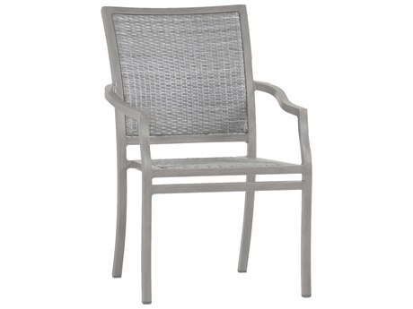 Summer Classics Villa Wicker Oyster Dining Arm Chair