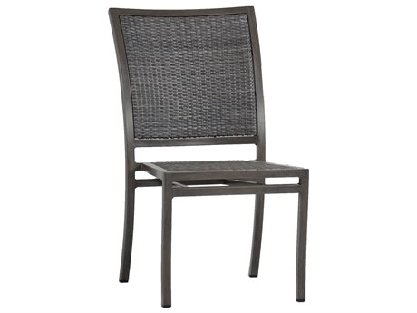 Summer Classics Villa Wicker Slate Grey Dining Side Chair
