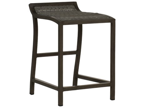 Summer Classics Villa Wicker Slate Grey Counter Stool