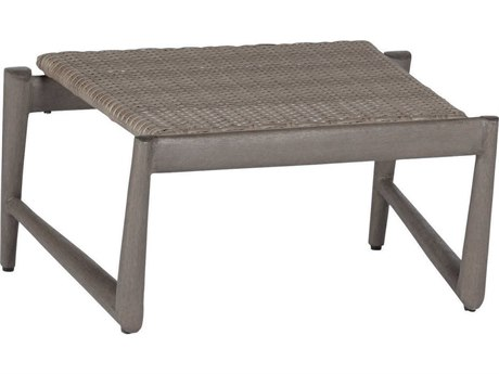 Summer Classics Wind Wicker Oyster Ottoman PatioLiving