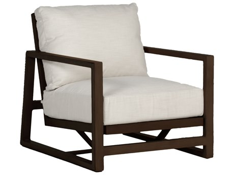 Summer Classics Avondale Aluminum Mahogany Lounge Chair with Cushion