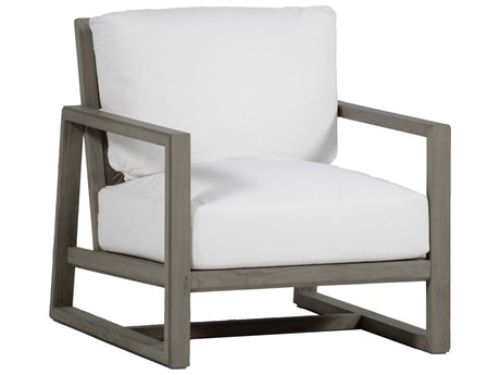 Summer Classics Avondale Aluminum Slate Grey Lounge Chair with Cushion PatioLiving