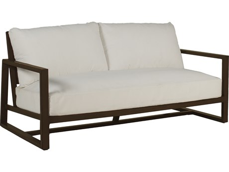 Summer Classics Avondale Aluminum Mahogany Sofa with Cushion