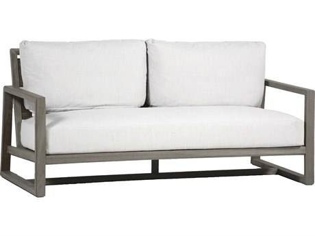Summer Classics Avondale Aluminum Slate Grey Sofa with Cushion PatioLiving