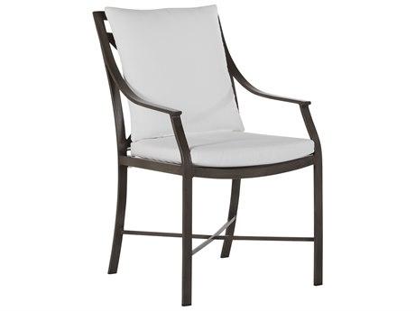 Summer Classics Monaco Aluminum Slate Gray Dining Arm Chair