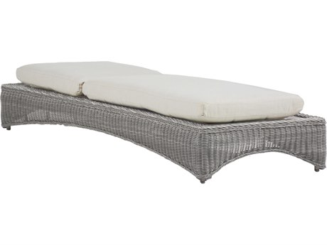 Summer Classics Regent Wicker Oyster Chaise Lounge
