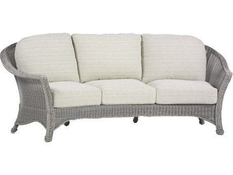 Summer Classics Regent Wicker Oyster Sofa with Cushion