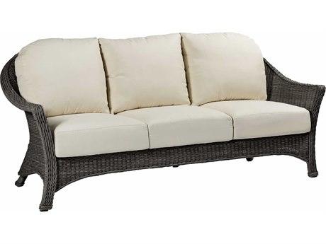 Summer Classics Regent Wicker Slate Grey Sofa with Cushion