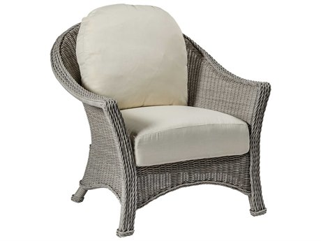 Summer Classics Regent Wicker Oyster Lounge Chair with Cushion
