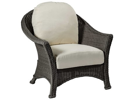 Summer Classics Regent Wicker Slate Grey Lounge Chair with Cushion