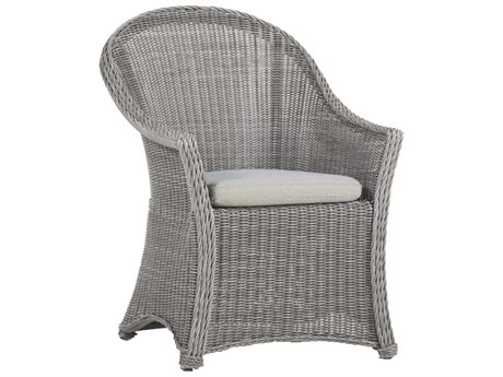 Summer Classics Regent Wicker Dining Arm Chair with Cushion