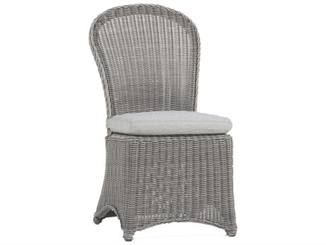 Summer Classics Regent Wicker Oyster Dining Arm Chair with Cushion