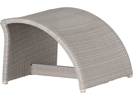 Summer Classics Halo Wicker Oyster Ottoman