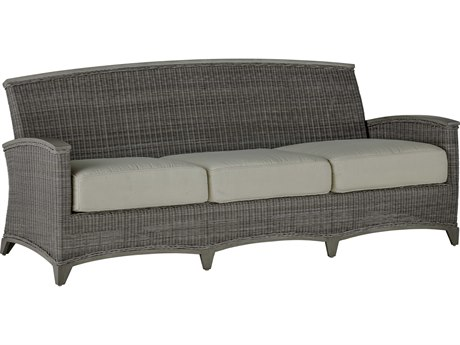 Summer Classics Astoria Wicker Oyster Sofa with Cushion PatioLiving