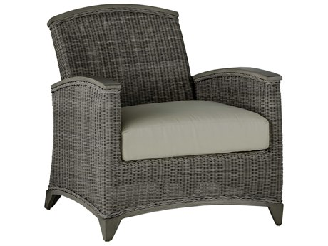 Summer Classics Astoria Wicker Oyster Lounge Chair with Cushion PatioLiving