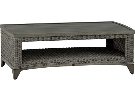 Summer Classics Astoria Wicker Oyster 48''W x 25''D Rectangular Coffee Table