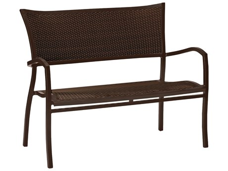 Summer Classics Aire Wicker Mahogany Chestnut Bench