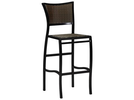 Summer Classics Aire Wicker Ancient Earth Black Walnut Bar Stool