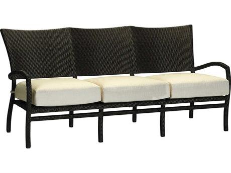 Summer Classics Skye Wicker Black Walnut Sofa with Cushion