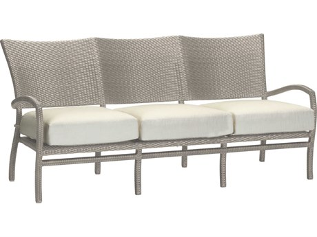 Summer Classics Skye Wicker Oyster Sofa with Cushion