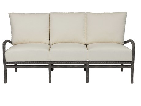 Summer Classics Skye Wicker Slate Grey Sofa with Cushion