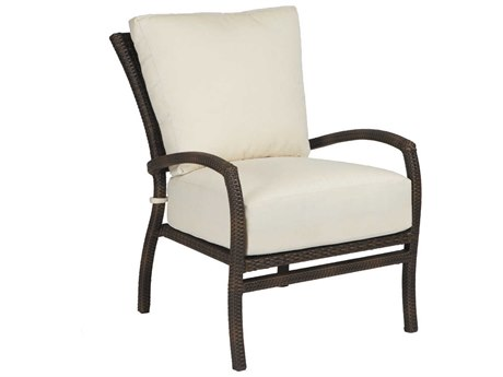 Summer Classics Skye Wicker Black Walnut Lounge Chair with Cushion