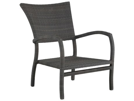 Summer Classics Skye Wicker Slate Grey Lounge Chair with Cushion