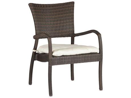 Summer Classics Skye Wicker Black Walnut Lounge Chair with Cushion