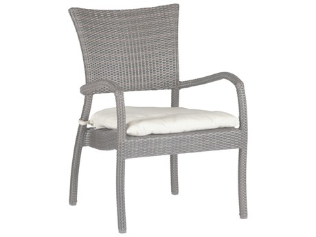 Summer Classics Skye Wicker Oyster Lounge Chair with Cushion