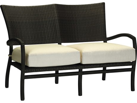 Summer Classics Skye Wicker Black Walnut Loveseat with Cushion
