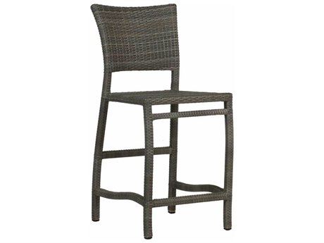 Summer Classics Skye Wicker Slate Grey Counter Stool