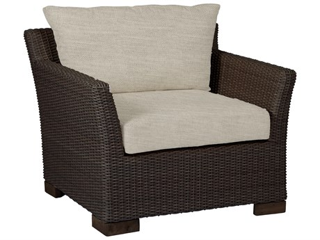 Summer Classics Club Woven Wicker Lounge Chair with Cushion