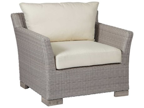 Summer Classics Club Woven Wicker Oyster Lounge Chair with Cushion PatioLiving