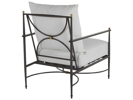 Summer Classics Roma Aluminum Slate Grey Lounge Chair with Cushion