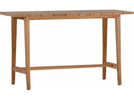 Summer Classics Coast Natural Teak 71''W x 23.63''D Rectangular Console Table