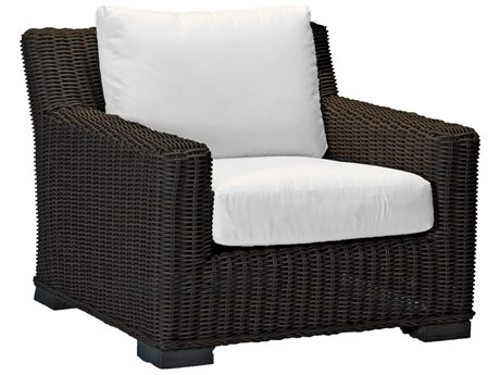 Summer Classics Rustic Wicker Lounge Chair with Cushion