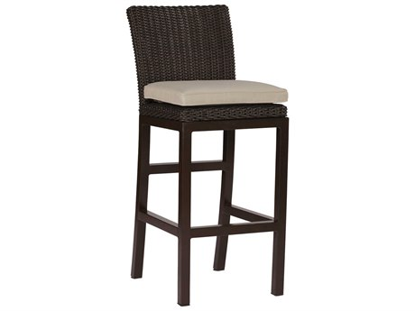 Summer Classics Rustic Wicker Black Walnut Bar Stool