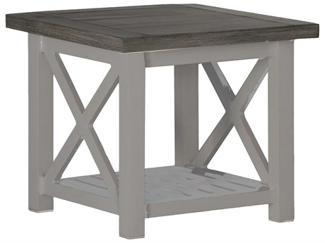 Summer Classics Cahaba Aluminum Slate Grey 24'' Wide Square End Table