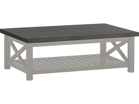 Summer Classics Cahaba Aluminum Slate Grey 47''W x 32''D Rectangular Coffee Table