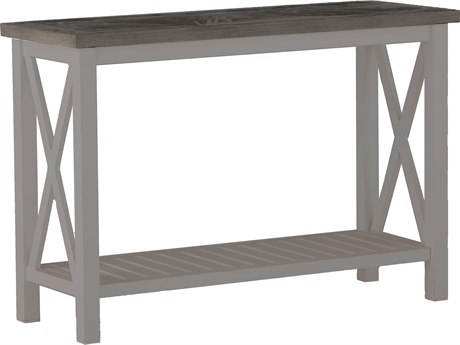 Summer Classics Cahaba Aluminum Slate Grey 50''W x 19''D Rectangular Console Table