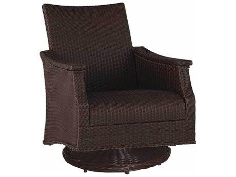 Summer Classics Bentley Wicker Swivel Rocker Lounge Chair