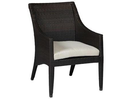 Summer Classics Athena Wicker Black Walnut Lounge Chair with Cushion PatioLiving