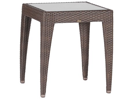 Summer Classics Athena Wicker Black Walnut 20'' Wide Square End Table