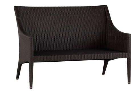 Summer Classics Athena Wicker Black Walnut Sofa with Cushion SUM39822